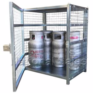 Picture of 12 x 9kg LPG Gas Bottle Storage Cage