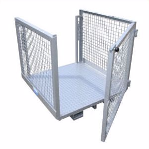 Picture of Forklift Order Picker Cage with Double Gates