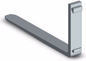 Picture of Fork Tine Class 2 1000mm 1200kg SWL