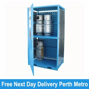 Picture of Gas Cylinder Storage cage for 12 x Type T Forklift Cylinders Perth