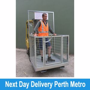 Picture of Forklift Safety Cage Flat Packed with Mesh Sides (Perth)