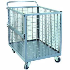 Picture of Full Mesh Stock Trolley with Drop Gate Perth