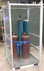 Picture of Gas Bottle Storage Cage (Flat Packed) Perth