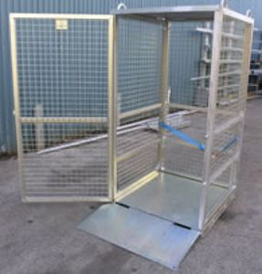 Picture of Gas Cylinder Storage Cage with Ramp (Assembled) Perth